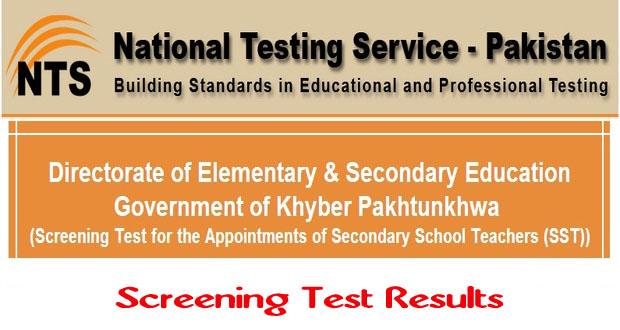 KPK SST Jobs 2014 Screening NTS Test Results