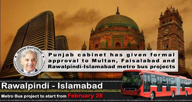 Punjab Government to launched Metro Bus Service in Multan, Faisalabad and Rawalpindi-Islamabad