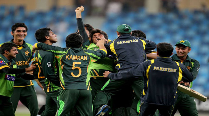 Pakistan players are overjoyed after reaching the final