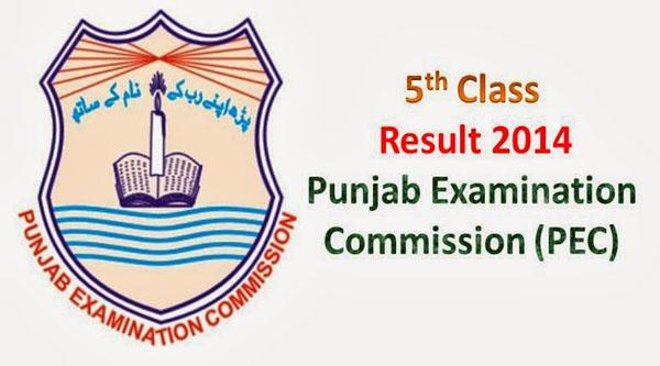 PEC 5th Class Result 2014