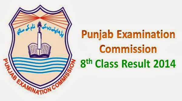 PEC 8th Class Result 2014