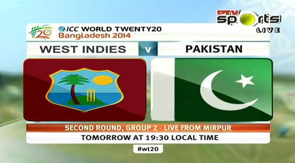 Pakistan vs West Indies T20 World Cup 2014 Match