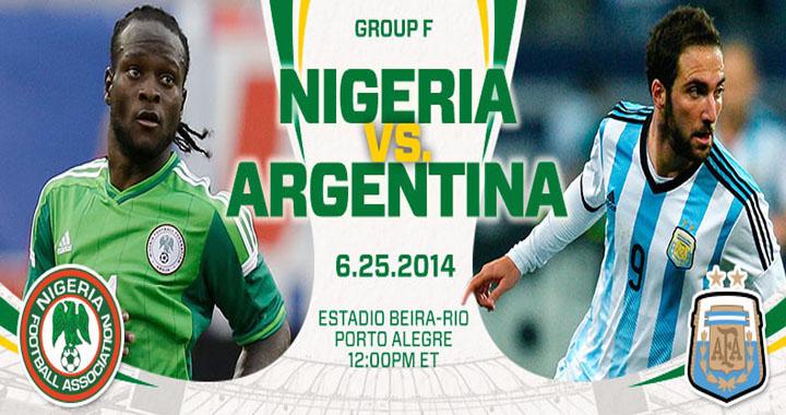 nigeria vs argentina fifa world cup 2014 match