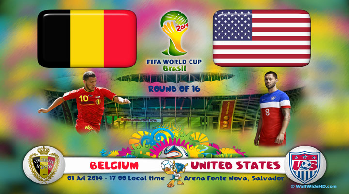 Belgium vs United States World Cup 2014 Round of 16 Match