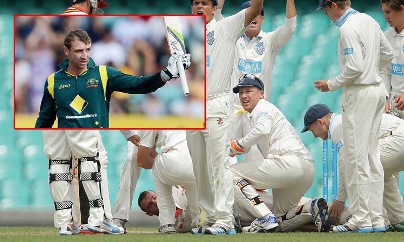 Pakistan vs New Zealand test suspended to honour Phillip Hughes