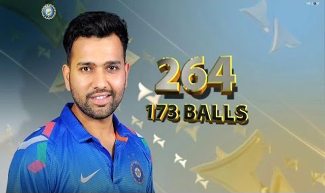 Rohit Sharma scores 264 runs in ODI vs Sri Lanka – Highlights