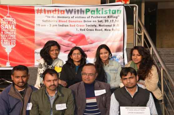 Indian Red Cross Society launches blood donation drive for Peshawar victims