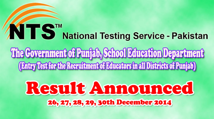 Educators NTS Test Result announced