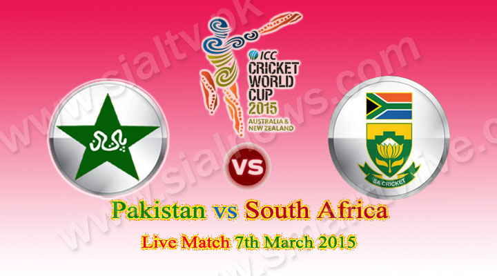 Pakistan vs South Africa, ICC World Cup 2015 Match Live Streaming