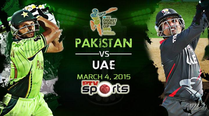 Pakistan vs United Arab Emirates, ICC Cricket World Cup 2015 Match Live Streaming