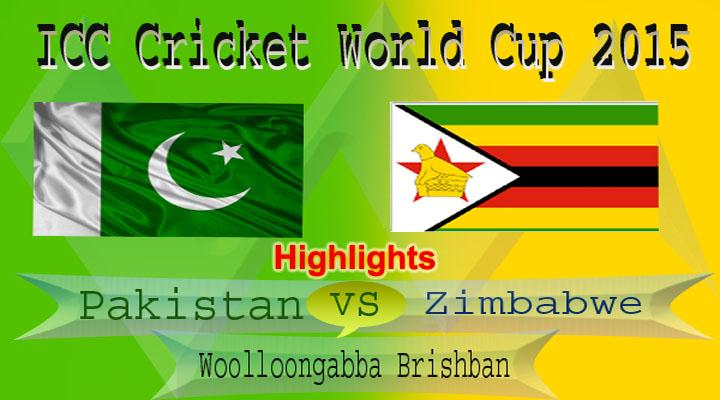 Pakistan vs Zimbabwe World Cup 2015 Match Highlights