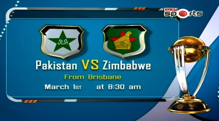 Pakistan vs Zimbabwe World Cup Match Live Streaming 1st March 2015