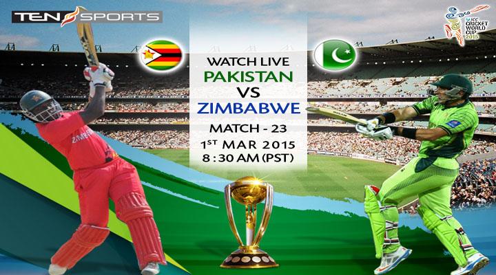 Pakistan vs Zimbabwe, Watch World Cup 2015 Match Live Streaming