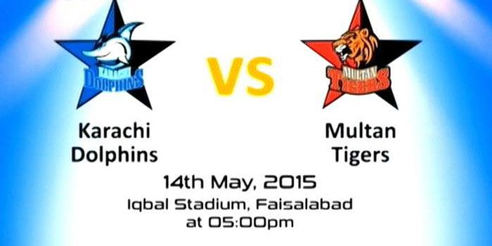 Karachi Dolphins vs Multan Tigers Haier Cup 2015 Match Live