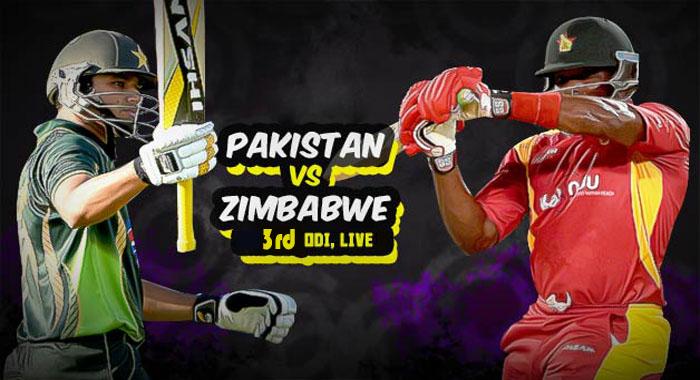 Pak vs Zim 3rd ODi Match Live