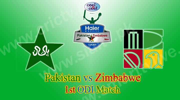 Pakistan vs Zimbabwe 1st ODI Match Live
