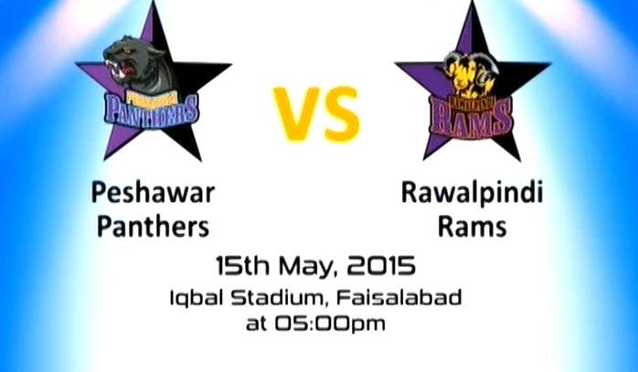 Panthers vs Rawalpindi Rams T20 Live Score 15 May 2015 iqbal stadium