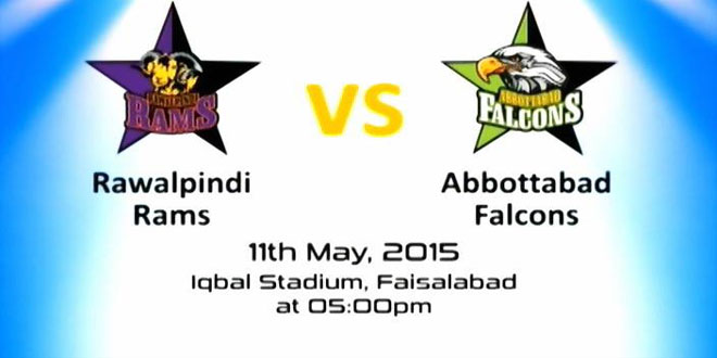 Rawalpindi Rams vs Abbottabad Falcons Haier Cup 2015 Match Live