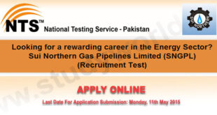 Sui Northern Gas Pipelines Limited (SNGPL) Jobs 2015