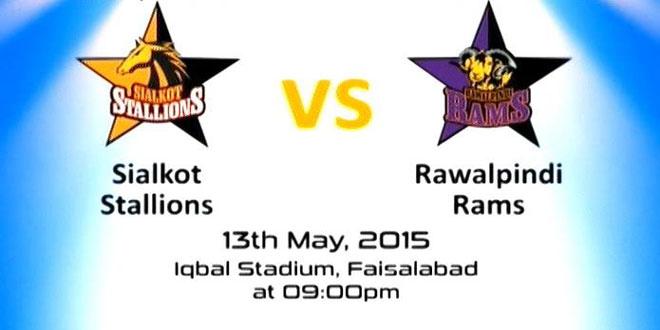 Sialkot Stallions vs Rawalpindi Rams Match