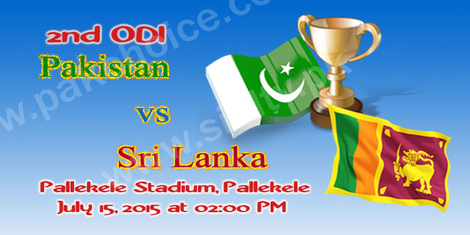 Pakistan vs Sri Lanka 2nd ODI Match Live