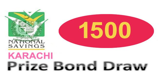 Prize Bond Draw Rs. 1500 Karachi