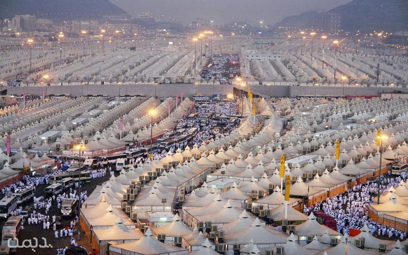 Hajj Pilgrims at Mina, Mecca