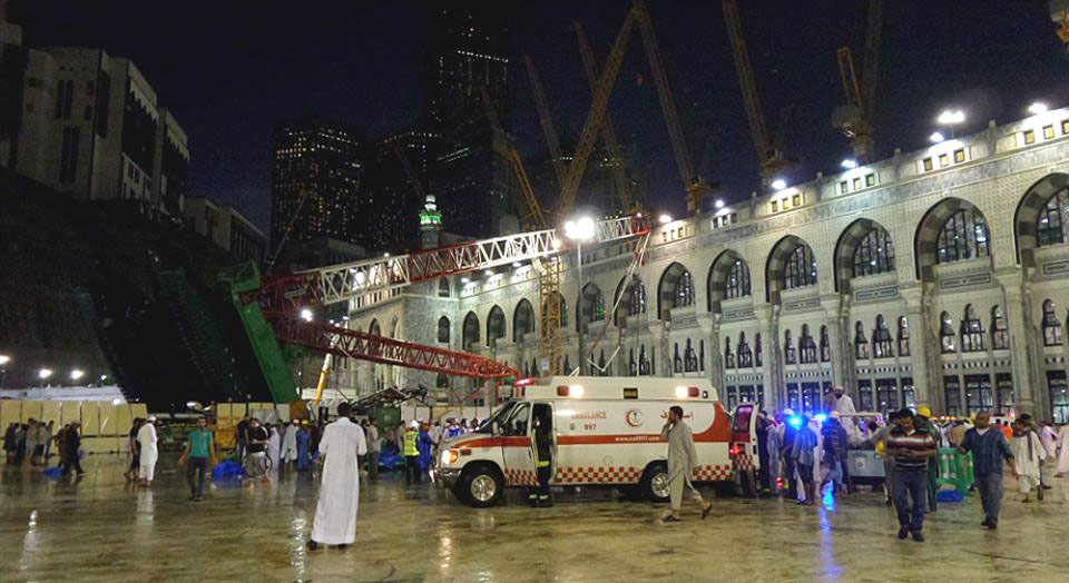 Makkah Grand Mosque Cran Crash