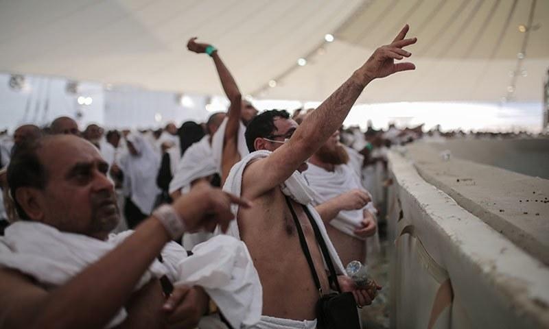 Pilgrims doing Rami at Mina
