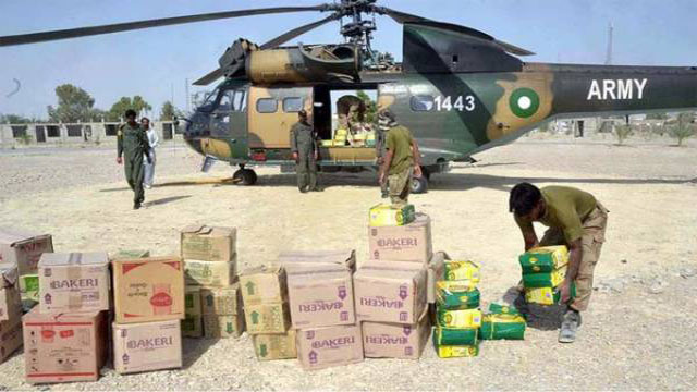 Pakistan Army Relief Operation in Gilgit