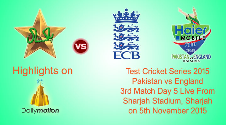 Pakistan vs Enland 3rd Test Match Day 5