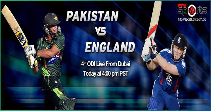 Pakistan vs England 4th ODI Match Live