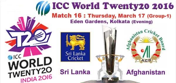 Afghanistan vs Sri Lanka 16th Match T20 World Cup 2016