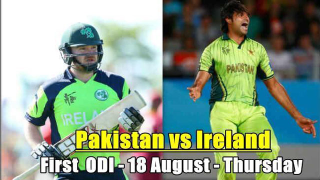 Pakistan vs Ireland 1st ODI Match