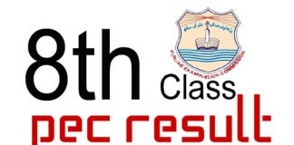 PEC 8th Class Results