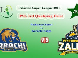 Karachi Kings vs Peshawar Zalmi PSL 3rd Playoff Match Live Streaming