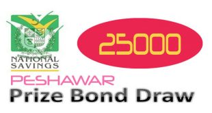 Prize Bond Draw Rs. 25000 Peshawar