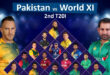 Pakistan vs World XI 2nd T20 Match Live Streaming