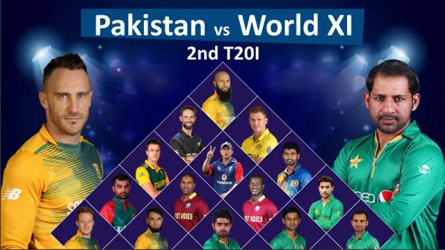 Pakistan vs World XI 2nd T20 Match Live Streaming