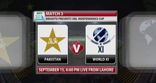 Pakistan vs World XI 3rd T20 Match Independence Cup 2017 Live Score