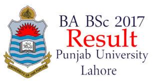 Punjab University Lahore BA - BSc Result 2017