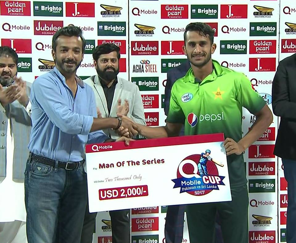 Hassan Ali Man of the Series