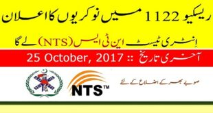 Punjab Emergency Service Rescue 1122 Jobs October 2017