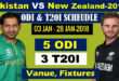 Pakistan vs New Zea Land Cricket Series 2018 Schedule