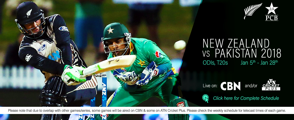 Pakistan vs New Zea Land Cricket Series 2018