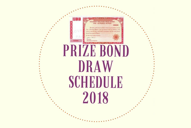 Prize Bond Draw Schedule 2018