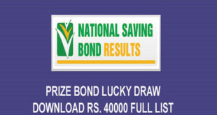 Rs. 40000 Prize Bond Draw