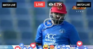 AFG Batting Live
