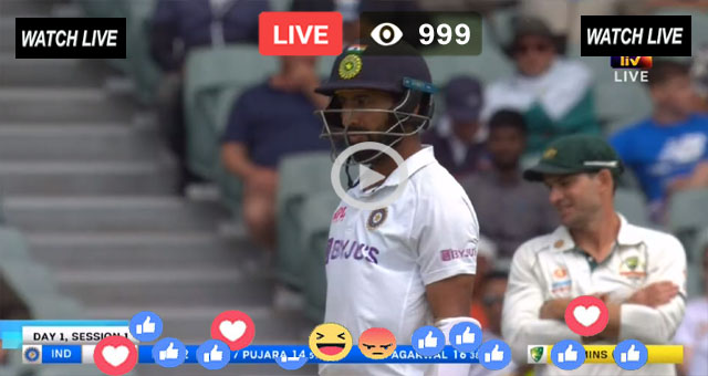 IND vs AUS 2nd Test Day 2 Sony Six Live