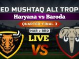Haryana vs Baroda, 3rd Quarter Final Match live Streaming